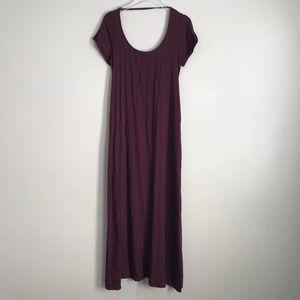 Tobi Open Back Cross Strap Maxi Dress